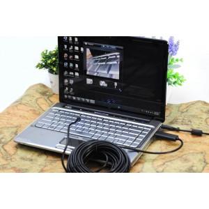 15 Metre USB Endoskop Kamera - IP66, 30FPS, 4 Ayarlanabilir LED (Yılan Kamera)