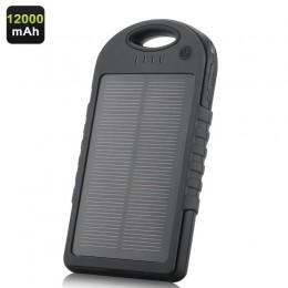 12000mAh Solar Güneş Enerjili Şarj Cihazı - Dual USB Çıkış, Torch LED
