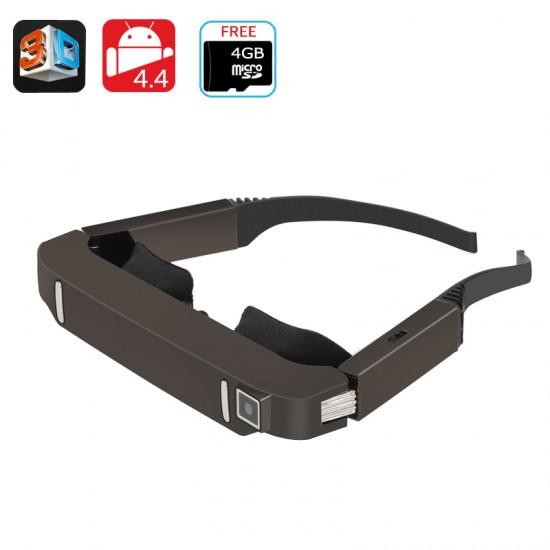 VZ80 Android 4 4 Wi-Fi 3D Video Sinema Gözlüğü - Yan Yana Video, 5MP Kamera, 1080p Destek, Bluetooth, Wi-Fi