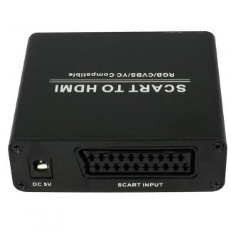 SCART to HDMI HD Video Dönüştürücü Adaptör - Scart Girişini HDMI Çevirme, 1080p