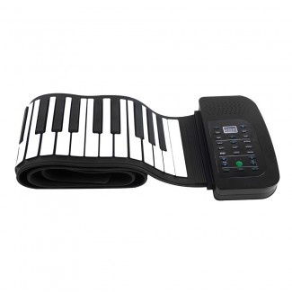 Taşınabilir 88 Tuşlu Silikonlu Esnek Katlanabilir Klavye Piyano - Pedallı, Flexible Roll Up