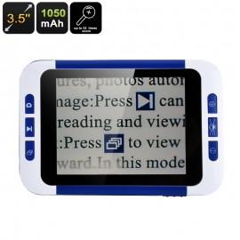 3.5 inch LCD Ekran Taşınabilir Dijital Büyüteç Magnifier - 2x ile 32x Büyütme, Üç Renk Modu, 32GB SD Kard Slot, 1050mAh