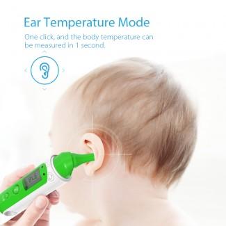 Koogeek Bluetooth 4.0 Smart Akıllı Termometre Ölçer - Alın Kulaktan Ölçüm, Bebek Termometre