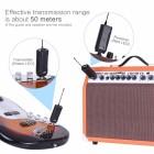 Elektro Gitar Bas Elektro Keman Müzik Enstrümanı için Portatif Wireless Taşınabilir Kablosuz Ses Verici Alıcı Sistemi