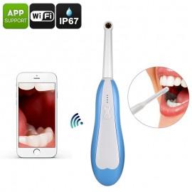 150x Zoom WiFi Endoscope İntraoral Ağız içi Dental Kamera - IP67, Fotoğraf, HD Video, 6x Led Işıklı
