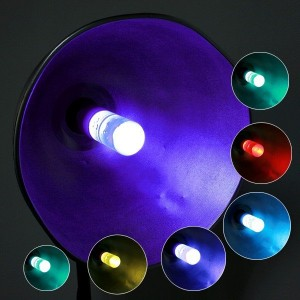 Uzaktan Kumandalı 3W E27 RGB 16 Renk Kristal LED Lamba Ampul
