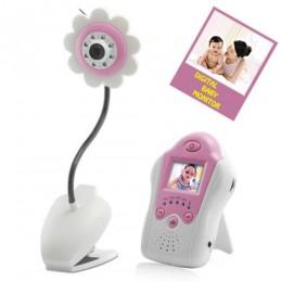 1.5 inch Gece Görüşlü Wireless Bebek Monitörü  - AV Çıkışlı - Çiçek tasarım