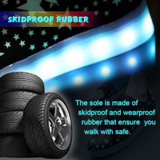 USB Şarjedilebilir 7 Renkli LED Fashion Işıklı Unisex Spor Ayakkabı - Bay ve Bayan için