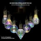 Yaratıcı Renkli Dekoratif 6W E27 LED 3D LED Lamba Ampul - Parti, Ev, Cafe,Dekor, 3 Boyutlu