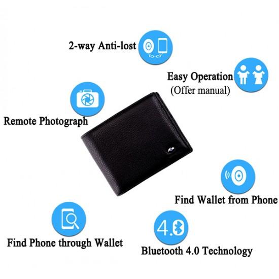 Hırsızlığa ve Kaybetmeye Karşı korulamalı Bluetooth Akıllı Smart Deri Cüzdan