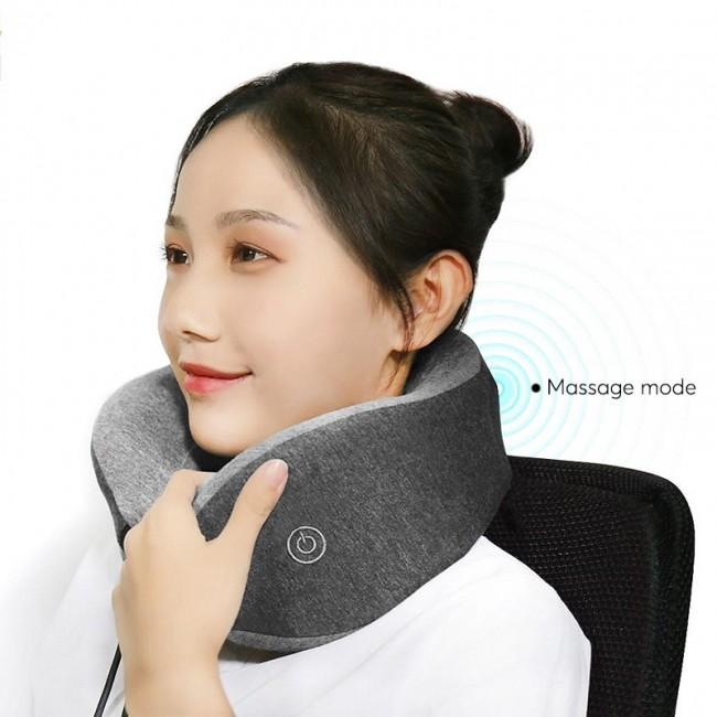 Xiaomi Çok Fonksiyonlu U-Biçimli Boyun Masaj Yastığı - Hafif,% 95 Pamuk, Sessiz, Taşınması Kolay, Uyku Modu