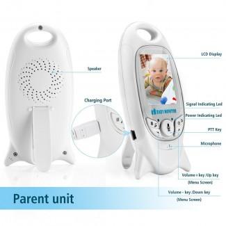 2.4 Inch Ekran Wireless Bebek Monitörü - Sıcaklık Monitörü, Gece Görüş, Ninni Özelliği, Çift Yollu Ses