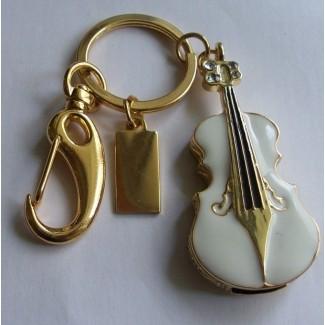 Keman - Violin - Tasarımlı Mücevher Kolye USB Flash Bellek (2/4/8/16GB)