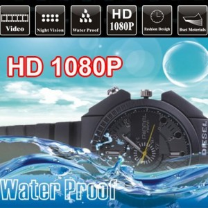 Diesel Kol Saati Gizli Kamera - 12MP - 1080P HD DV Su Geçirmez