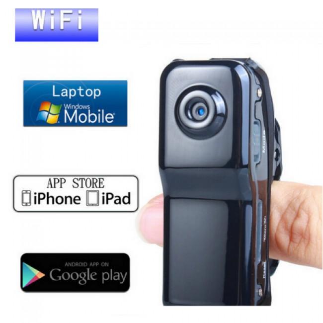Mini WiFi P2P Spy Gizli Kamera Clip-On Sitil Kablosuz Wireless İp Kamera