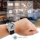 1080P Su Geçirmez Gizli Kameralı Spy Kol Saati - 8GB Hafıza, Ses Kayıt, Gece Görüş, Çelik Kasa