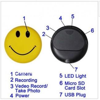 Sevimli Smile Yüz Görünümlü Mp3 Player HD Mini Spy Gizli Kamera