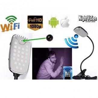 1080P HD Kablosuz Wifi Masa Lambası Gizli Kamera - P2P Spy Masa Lambası, Hareket Algılama, Uzaktan Kontrol