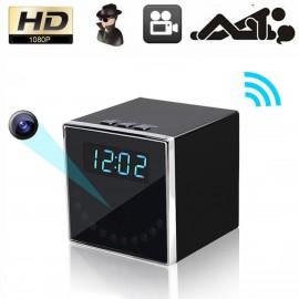 HD 1080P WiFi Wireless Gizli Kamera Masaüstü Saat - Ev Güvenlik Kamera, Gece Görüş, Bebek Bakıcı Kamera