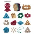 Colormix Renkli 5mm Mıknatıslı Bilye Puzzle - 216 Adet,  Eğitim DIY Proje, Çok Amaçlı Kullanım, Neocube