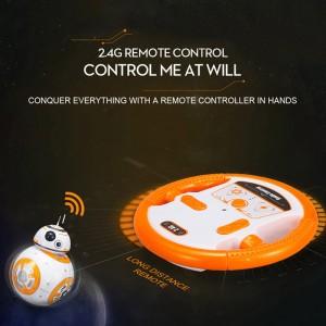 BB-8 RC Robot Ball Top Uzaktan Kumanda Gezegen Boyutlu- 2.4GHz,Sesli Star Wars Yıldız Savaşları Oyuncak