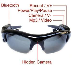 Güneş Gözlüğü Mp3 Player + Bluetooth + Gizli kamera DV (4GB Hafızalı)
