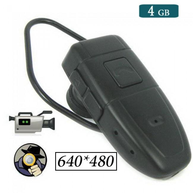 4GB Hafızalı Bluetooth Kulaklık Spy Gizli Kamera DVR