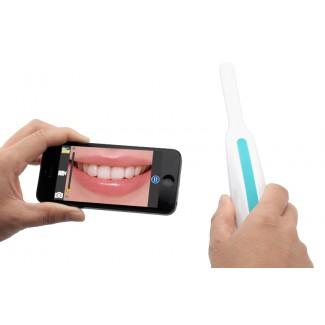 Kablosuz Wi-Fi İntraoral Ağız içi Dental Kamera - 6 LED Işık, iOS + Android Cihazlar için Ücretsiz Uygulama Kontrolü