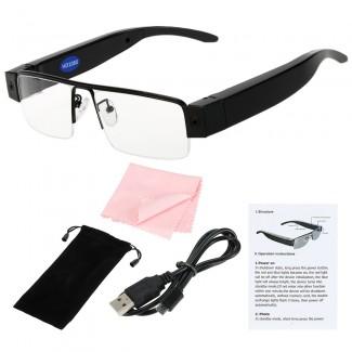 12MP FHD 1080P Mini Gizli Kameralı DV DVR Kişisel Gözlük -  MicroSD Kart Destekli