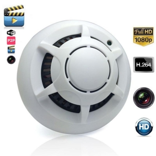 HD 1080p WiFi IP Spy Gizli Kameralı Duman Dedektörü - Hareket Algılama, IP Kamera, Bakıcı Kamera, Bebek Kamera