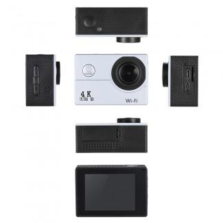2inch LCD Ekranlı V3 4K 1080P 60fps Full HD 16MP WiFi Aksiyon Sport Kamera - 4X Zoom, 40m Su Geçirmez, Allwinner V3, Sony IMX179