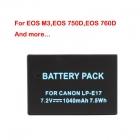 Canon LP-E 17 Yedek Batarya - 7.2V, 1040mAh, EOS M3, EOS 750D, EOS 760D Bataryaları