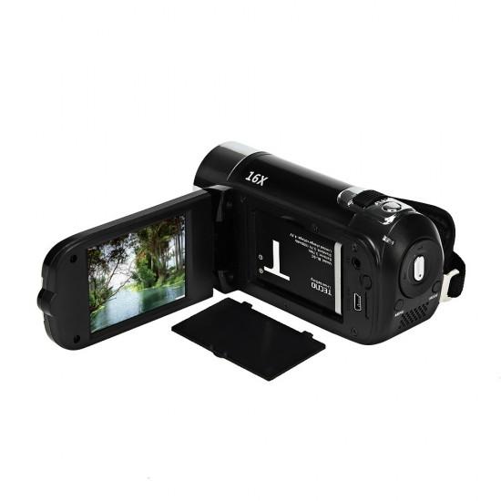 HD 1080 P 16 M 16X Dijital Zoom Video Kamera - TPT LCD Kamera, DV Ev Kamera (Kırmızı)