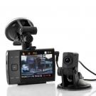 3.5 Inch Ekran HD 720p Dual Çift Kamera Araba DVR - Araç İçi Kamera