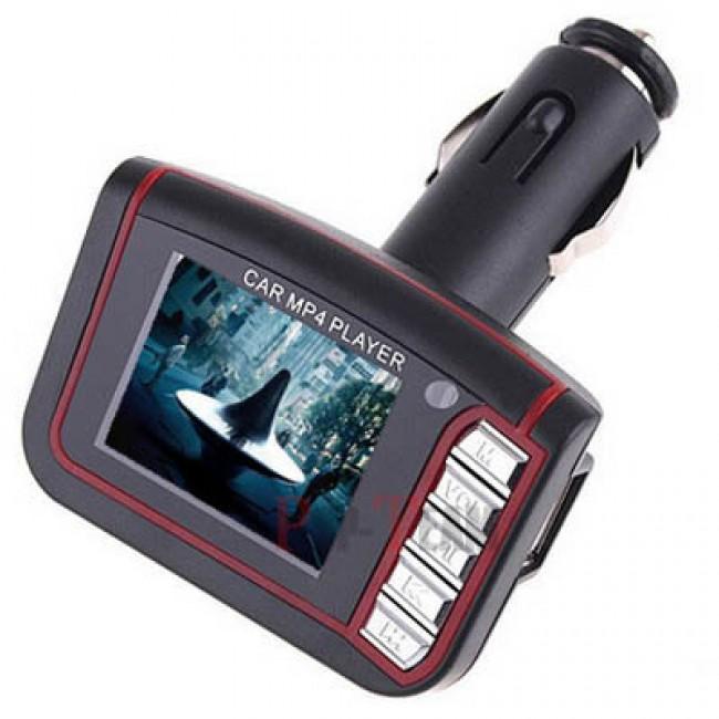 "1.8"" LCD Araba MP3 MP4 Player Wireless FM Transmitter - SD MMC Kart Slotu + Uzaktan Kumanda"