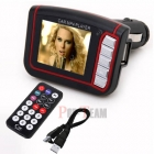 "1.8"" LCD Araba MP3 MP4 Player Wireless FM Transmitter - SD MMC Kart Slotu + Uzaktan Kumanda"