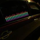Araba Camı için Müziğe Duyarlı Renkli Ekolayzır Sticker Panel - Dekoratif Aydınlatma Aksesuarı