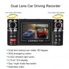 F30 Çift Dual Kameralı Araç Araba DVR Kaydedici - 2.7 inch HD DVR Dash Camcorder