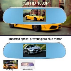 5 inch 1080P Android İşletim Sistemli Akıllı GPS Navigasyon Çift Kameralı DVR Dikiz Ayna - Android 4.4.2, WIFI, Geri Vites Kamera