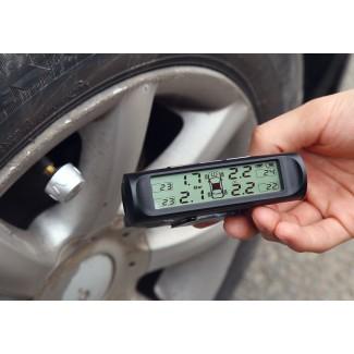 Araba Lastiği Basıncı İzleme Sistemi - Güneş Enerjisi, Hava Kaçak Alarmı, Basınç Alarmı, Sıcaklık Alarmı, 4 Sensör, Her Araca Uyumlu