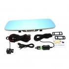 T6 HD 1080P Dikiz Ayna Araç DVR Video Kaydeci - Geri Vites Kamera, AV-IN, TF Kart, Takograf, Dual Çift Kamera