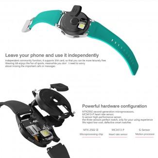 NO.1 G8 SmartWatch SIM Kart Destekli Kol Saati Telefon - Fitness, Bluetooth 4.0, App Desteği, Gear S3 Frontier Stili