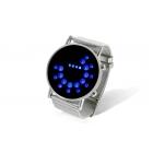 Metal Tasarım Japan Sitil Mavi LED Kol Saati - LED Saat