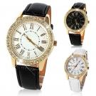 Kadınlar için Altın Kristal Lüks Kuvars Kol Saati - Bayan Saati