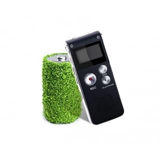 Mini Ses Algılama Özellikli 8GB USB Dijital Ses Kayıt Cihazı + Mp3 Player - Şarj Edilebilir