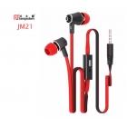 Orijinal JM21 Kulak Içi Kulaklık - Mikrofonlu Süper Bass Ses, 3.5mm Jack, Stereo, Langsdom