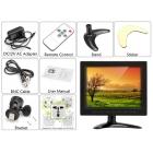 8 Inch TFT LCD Monitör - VGA, BNC + AV Giriş, 1024x768 Çözünürlük, Uzktan Kumanda, Ayarlanabilir Stand