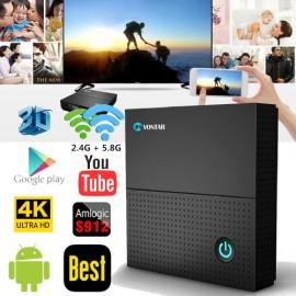 TX92 3GB/64GB 3GB/32GB 2GB/16GB Android 7.1 Smart TV Box - Amlogic S912 Octa Core CPU, Dual Wifi, 4K H.265
