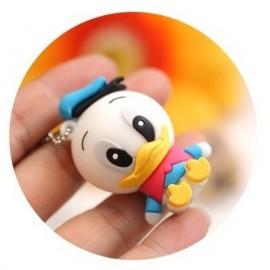 Donald Duck Karikatür Tasarımlı Anahtarlık USB Flash Bellek