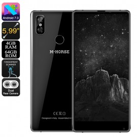 64GB M-Horse Pure 2 Android Cep Telefonu - 4GB RAM, 5.99 Inch Ekran, Android 7, Bezel-Less, Dual Arka Kamera